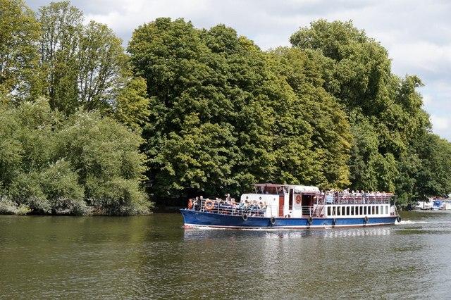 Pleasure boat on the Thames at Ham Street