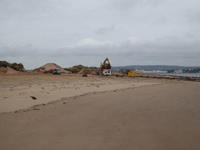 Construction of defences at Dawlish Warren
