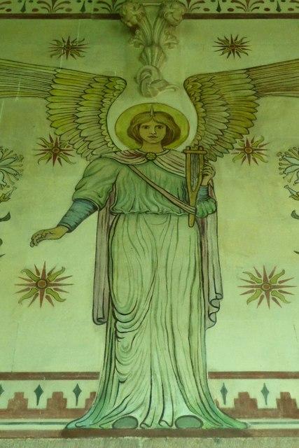 Chancel wall paintings, Llandogo church