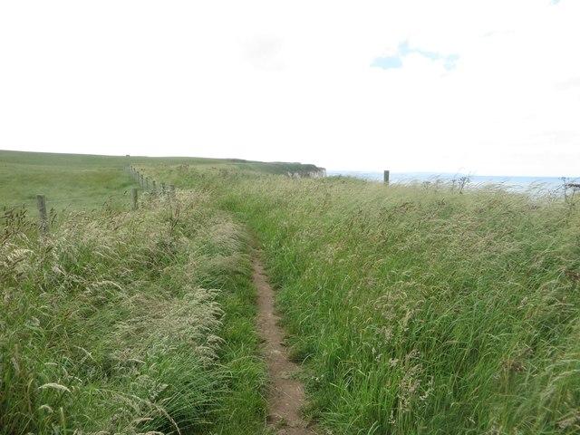 Coastal footpath above Close Nooks