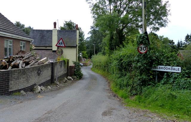Houses along Coalbrookdale Road