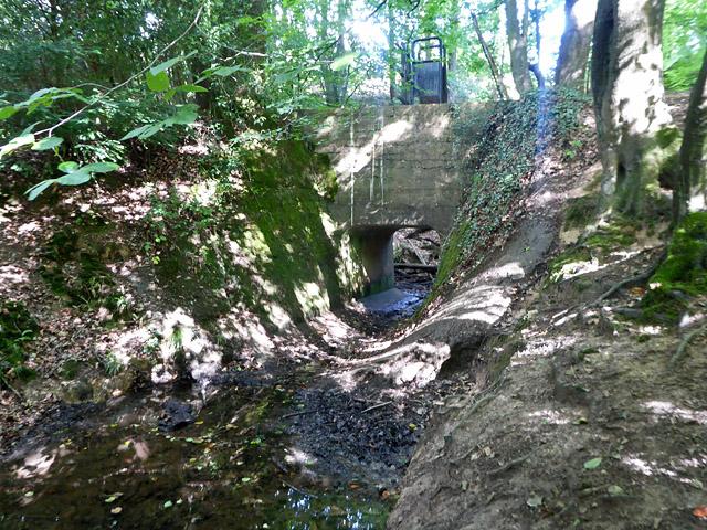 Massive footbridge near Spratsbourne Farm