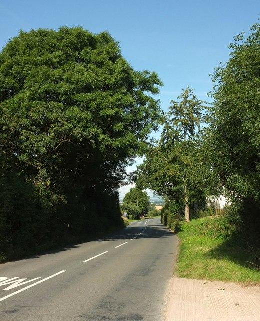 B3179 approaching Woodbury
