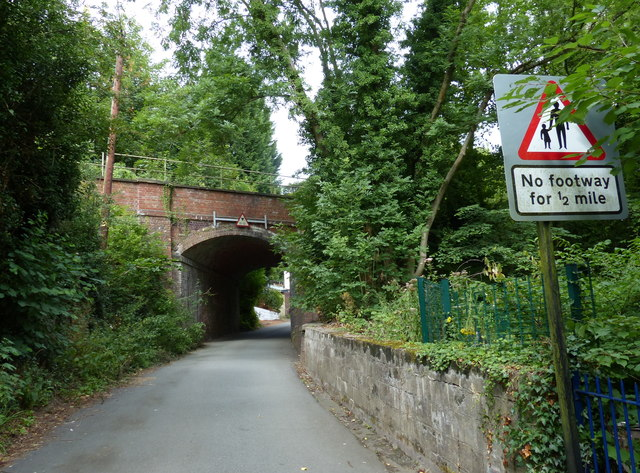 Railway bridge crossing Station Road