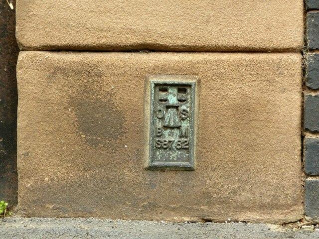 Flush bracket bench mark, Victoria Mill, Draycott