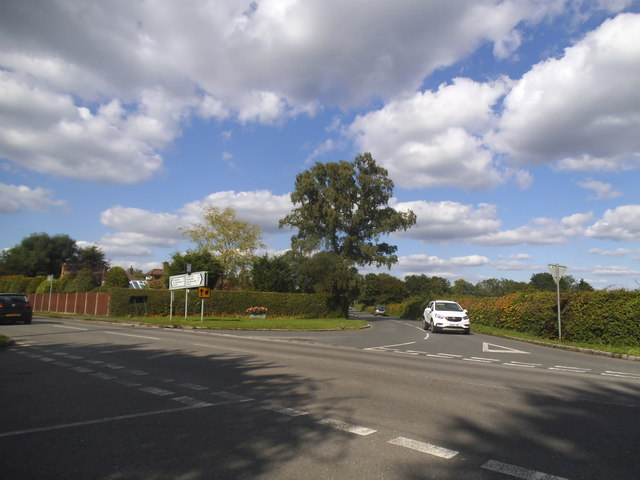Cryer's Hill Road at the junction of Cockpit Road