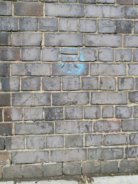Second Bench mark on Seaforth and Litherland station bridge