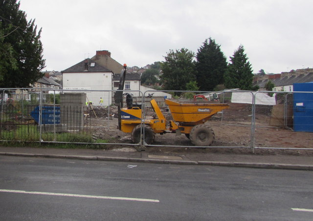 Site of the demolished St Matthew's Church, Newport