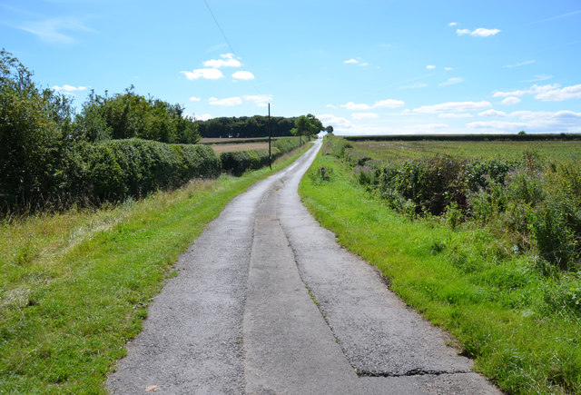 Lane towards a crossroads