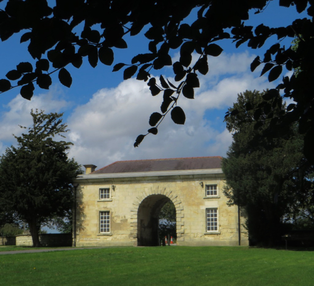 Cusworth Hall lodge, near Doncaster
