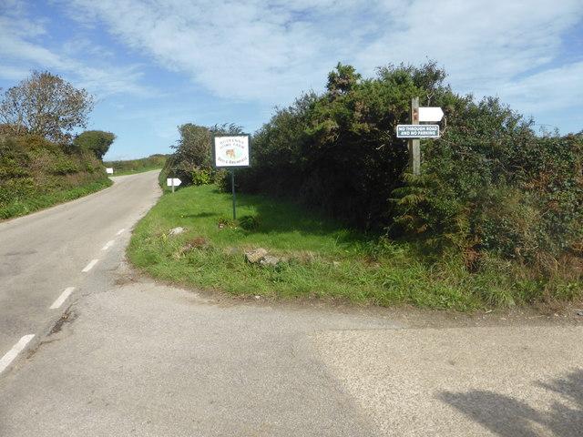 The lane to Boskenna Home Farm