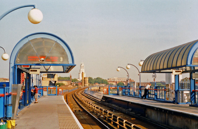 Limehouse DLR station, 1997
