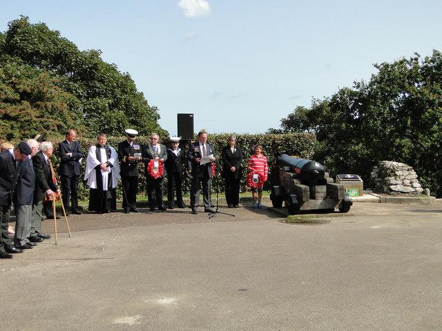 Unveiling ceremony for the Tom Crisp memorial