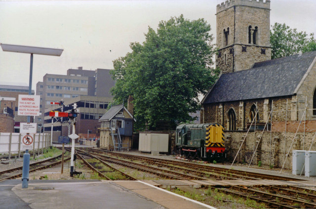 Lincoln: High Street, at west end of Central station,1992