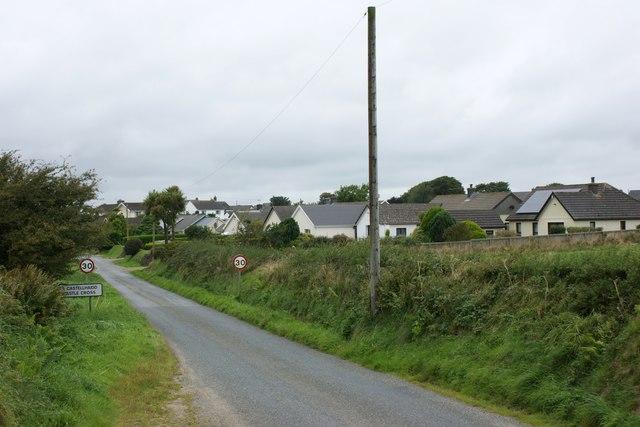 Approaching Hayscastle Cross from Brimaston