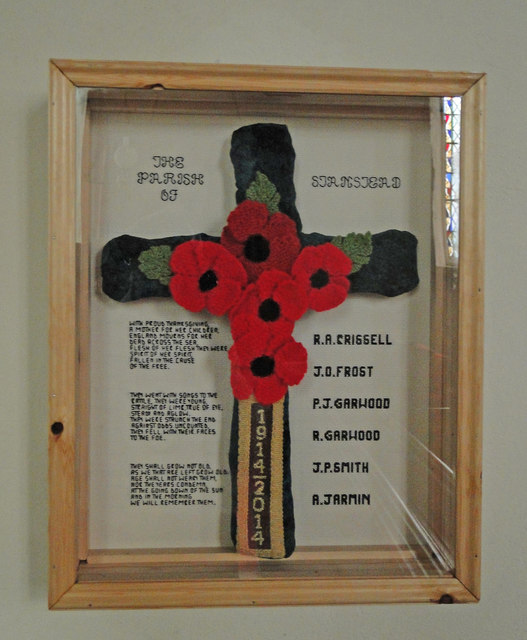 Stanstead's unusual knitted War Memorial