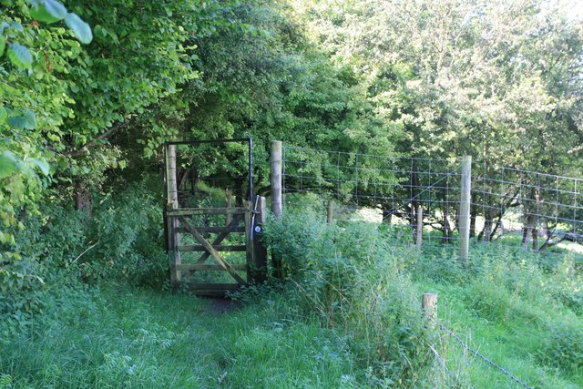 Gate on footpath near South Eggardon Farm
