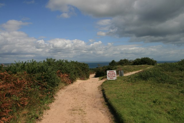 Footpath across Isle of Purbeck Golf Course