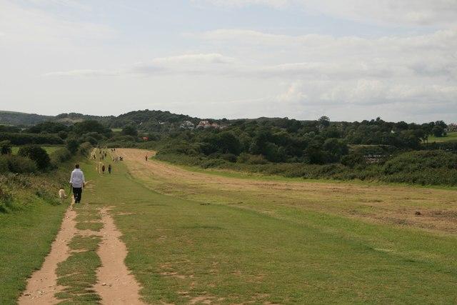 South-west coast path east of Studland