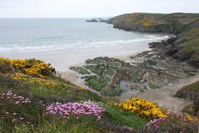 The beach at Cwm Mawr