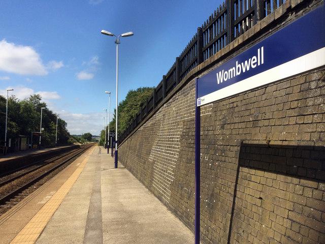 Platform 1 Wombwell railway station