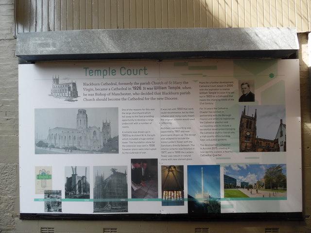Display Board at Temple Court, Blackburn