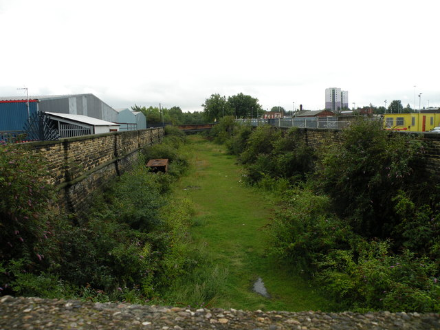 Track of old railway, Ivory Street