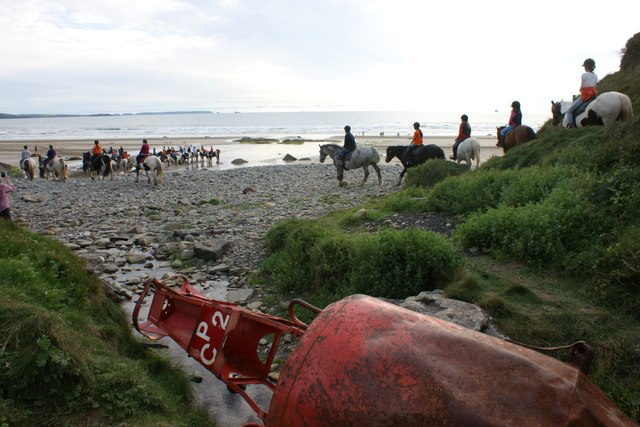 An evening horse ride at Druidston Haven