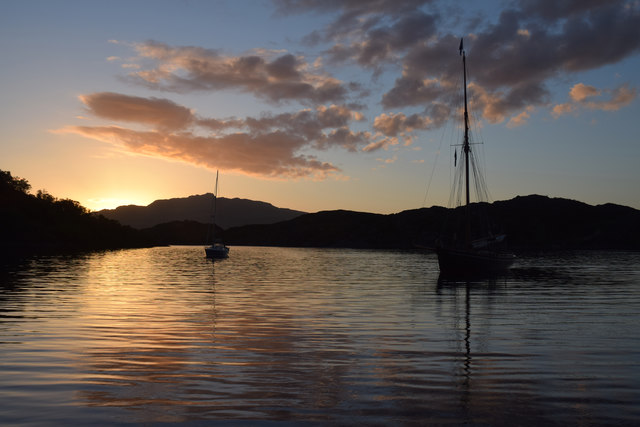 Sunset at Loch na Droma Buidhe (Loch Drumbuie)