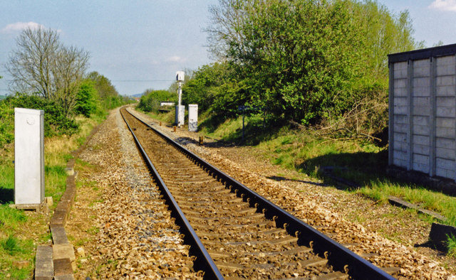 North from site of Littleton & Badsey station, 1998