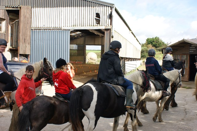 Setting off from Nolton Stables