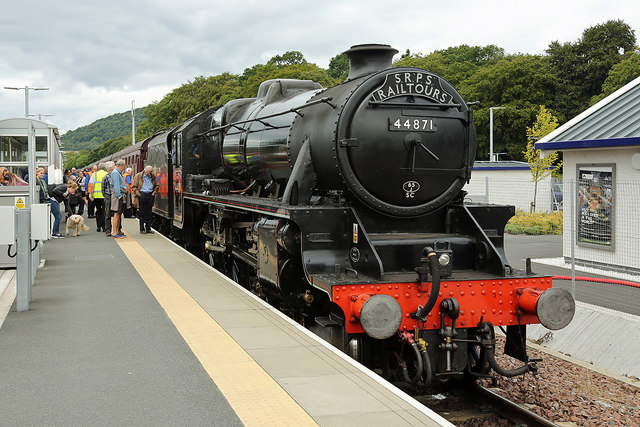 A steam special at Tweedbank Station