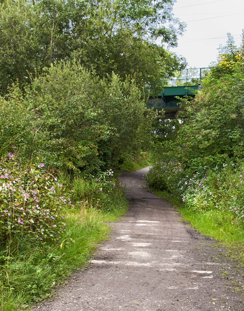 Landican Lane passes under the railway