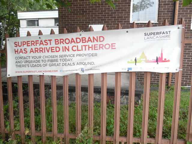 Superfast Broadband Poster in Clitheroe