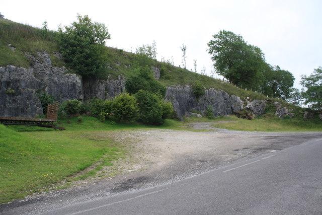 Quarried hillside near Jericho Farm