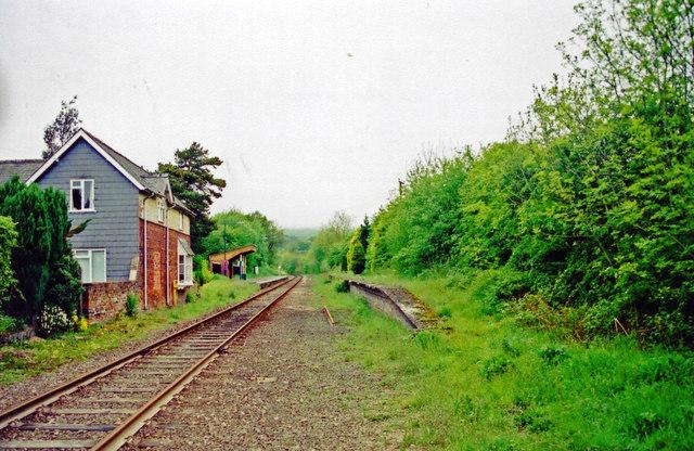 Llangunllo station, 2001