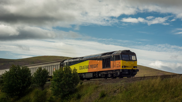 Class 60 hauling Inverness bound freight