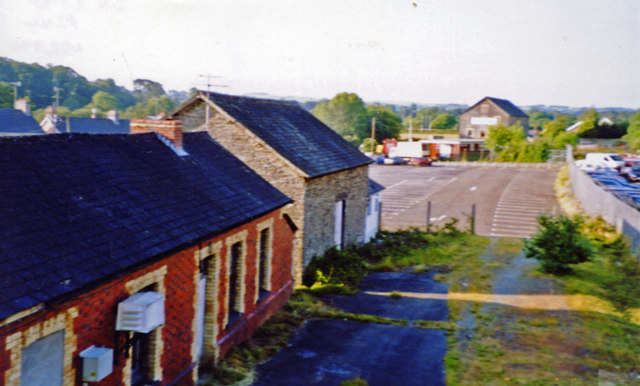 Llanybyther: remains of station, 2003