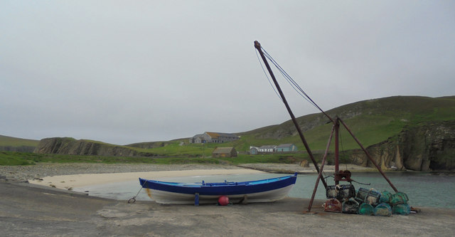 Harbour and beach, North Haven, Fair Isle