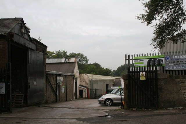 Clitheroe:  Primrose Road: Inside Track tyre depot