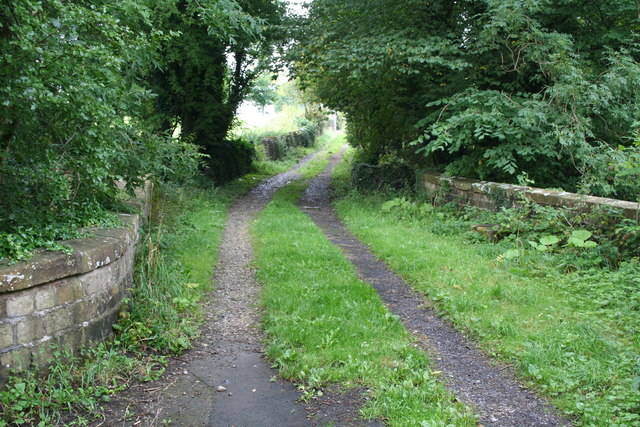 Clitheroe: Track leading to Lower Standen