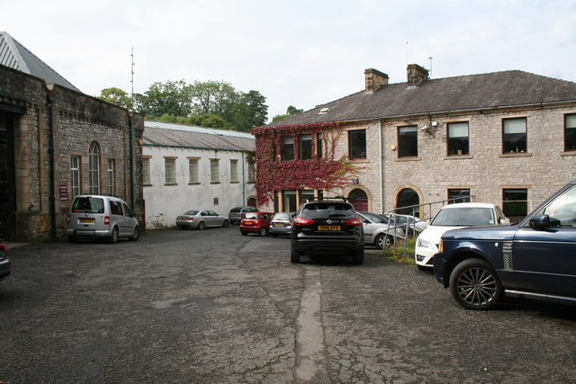 Clitheroe: view into old industrial area