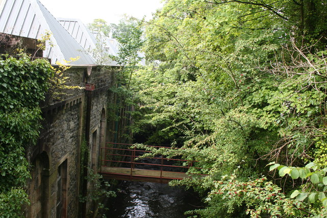 Clitheroe:Footbridge over small brook