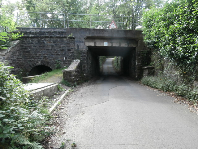 Railway bridge over Twyn Rd, Ystrad Mynach