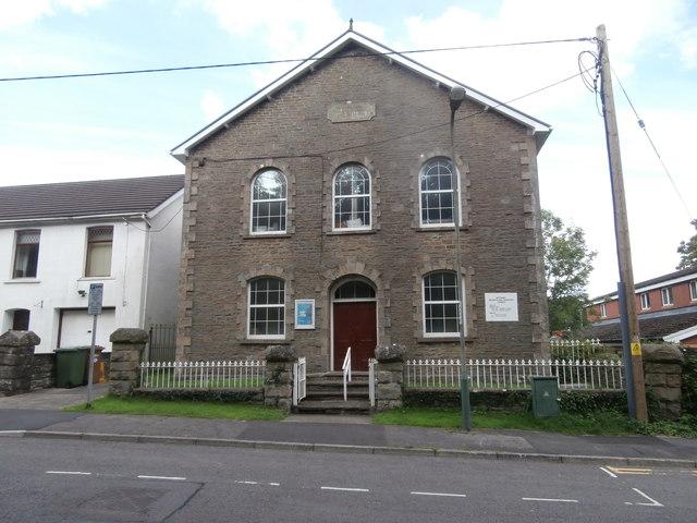 Bethania, formerly Welsh Calvinistic Methodist chapel, now Seventh Day Adventist church, Twyn Rd, Ystrad Mynach