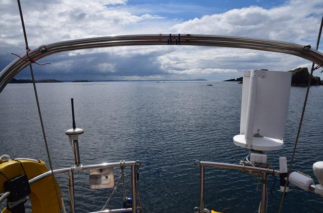 Looking SW from Port an Eilean anchorage, Handa Island