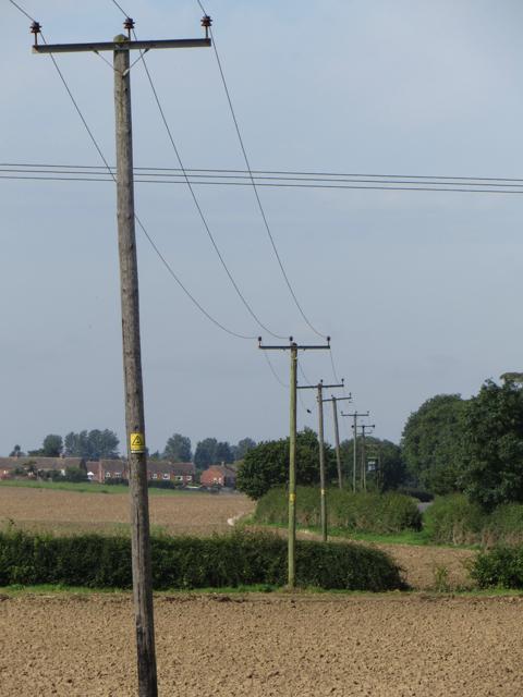 Power lines near Humbleton
