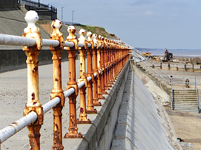 Rusty railings, Withernsea