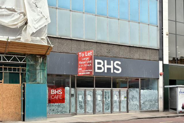 Former BHS (British Homes Stores), Castle Place, Belfast (August 2017)