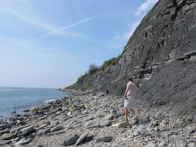 Dog Walker Approaching Seven Rock Point
